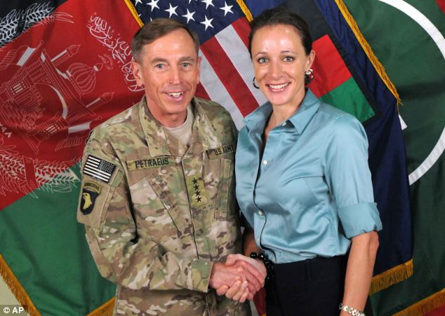 Affair: Kelley tipped off the FBI about threatening emails she received from Paula Broadwell, right, and during their investigation they uncovered her affair with David Petraeus