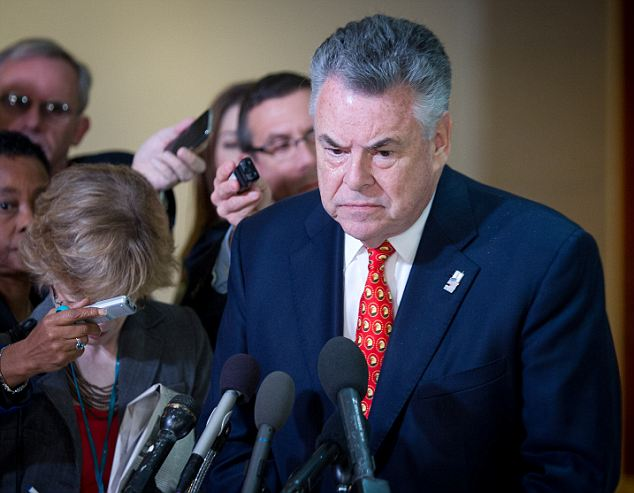 After the closed door hearing Rep. Peter King told the media that Petraeus's original talking points were different than the ones put out by the White House and Susan Rice
