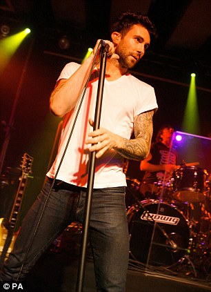 Adam Levine of Maroon 5 performs on stage in London