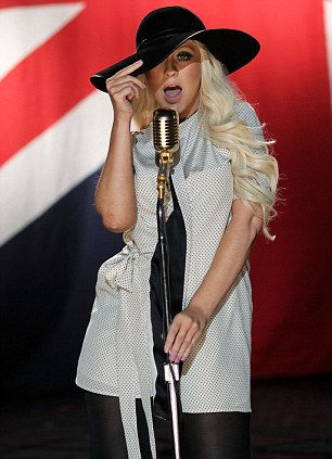 Christina Aguilera teamed up with Maroon 5 for Moves Like Jagger