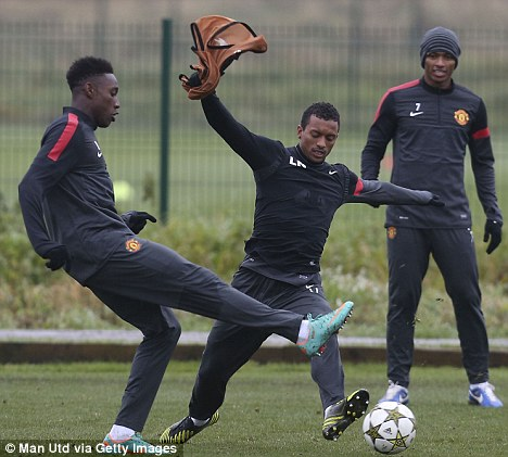 Patience: Welbeck (left) faces stiff competition at United