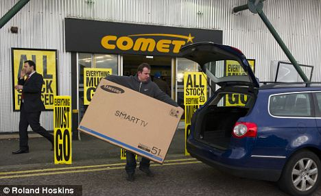 Comet closures: Some stores are having clearance sales now