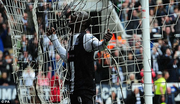 Barred: Papiss Cisse was not allowed to play on Saturday