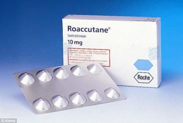 Harmful? Roaccutane has been linked to devastating side effects but manufacturers Roche say there is 'no causal link' between the drug and depression or suicidal thoughts