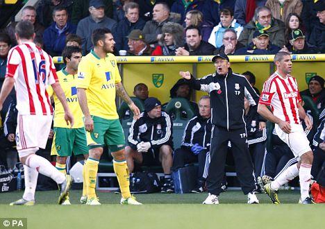 Upbeat: Stoke manager Tony Pulis