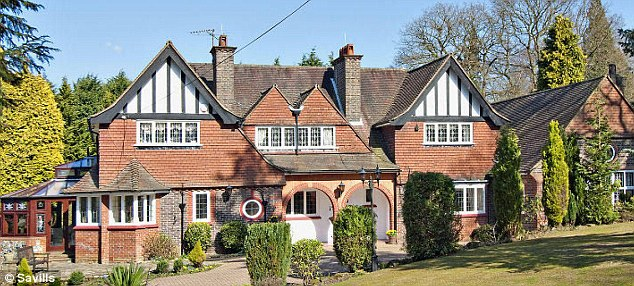 Plush: The home is worth £1.8million and is in the highly desirable Reigate, Surrey