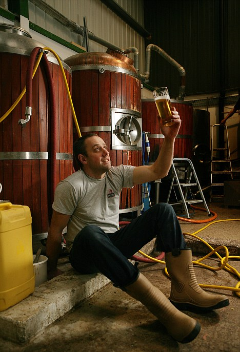 Cask master: Geoff Quinn now exports his beer to Belgium