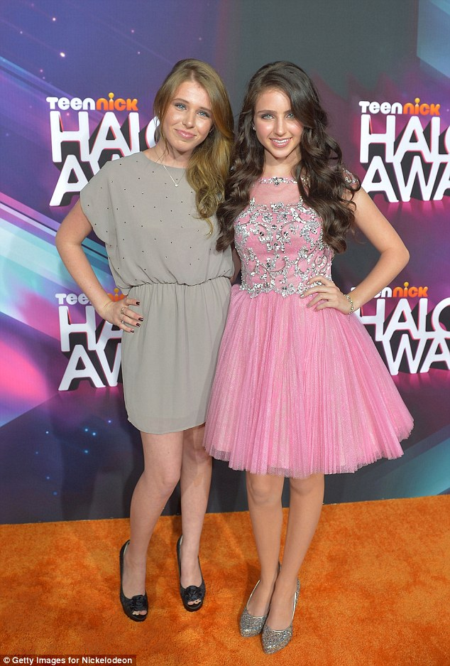 Sister, sister: Jessica Newman and her actress sister Ryan Newman wore frocks that complimented each other perfectly