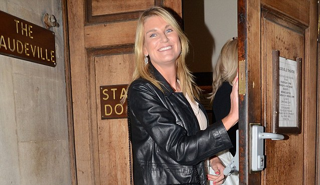 Twitter gaffe: Speaker's wife Sally Bercow arrived at the Vaudeville Theatre to watch a performance of Uncle Vanya last night. She is facing a legal claim by Lord McAlpine after joining a frenzy of paedophile speculation