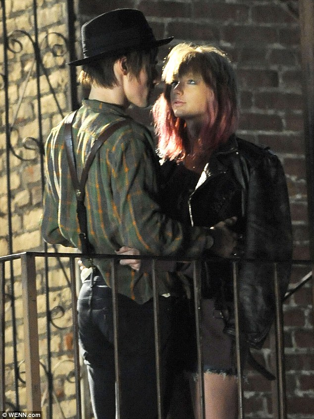 No, YOU are trouble: The singer was shooting scenes for her new music video I Knew You Were Trouble