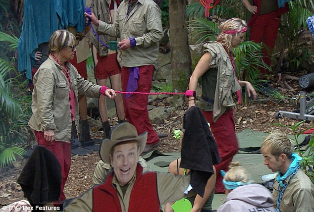 Toil and trouble: The celebrities have been paired off for the next four days, Linda Robson and Charlie Brooks are one of the six duos