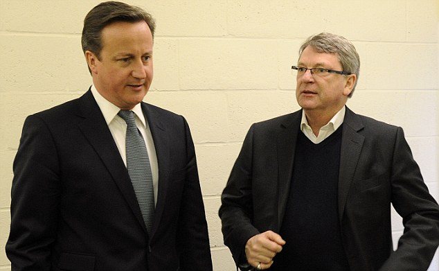 Tougher line: Cameron with Lynton Crosby, his new 'attack dog'. Some Conservatives fear he is divisive and a 'regressive step'