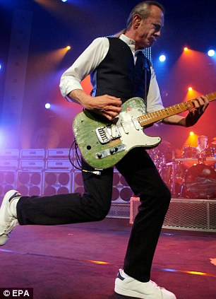 Stage presence: Francis Rossi had Rick Parfitt are renowned for their energetic performances on stage, even after 47 years of touring