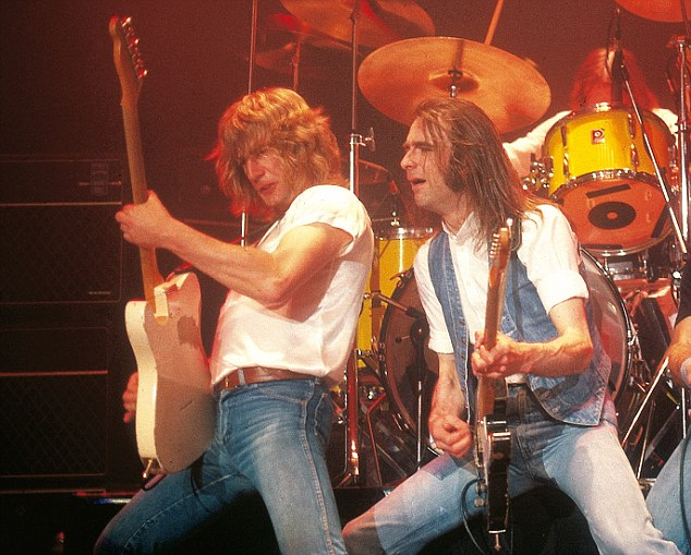 Heyday: Rockers Rick and Francis have been pleasing audiences all over the world for the best part of half a century