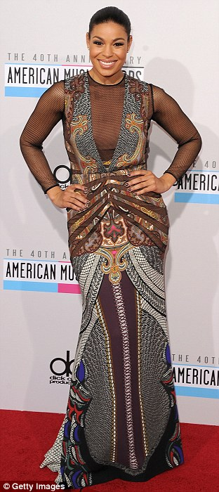 Skin on show: She showed off her body in a daring Etro gown