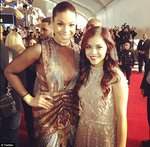 New friends: Jordin posed with Alyssa Bernal on the red carpet