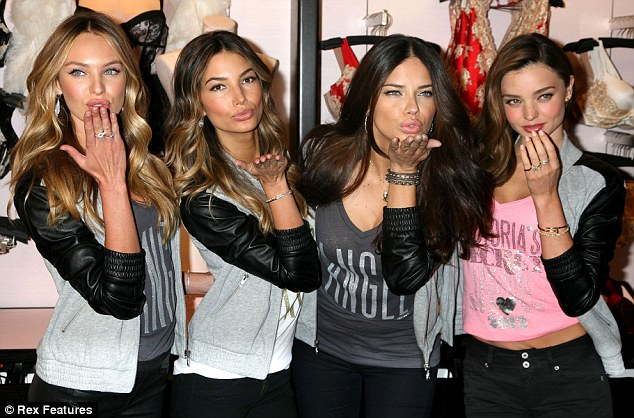 Back to her day job:  The Victoria's Secret Angels revealed their favorite holiday gift picks and celebrated Holiday 2012 at the newly reopened Victoria's Secret Herald Square store