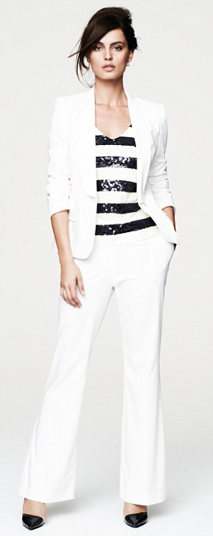 Blazer £28, trousers, £18 and top £14 all by F&F