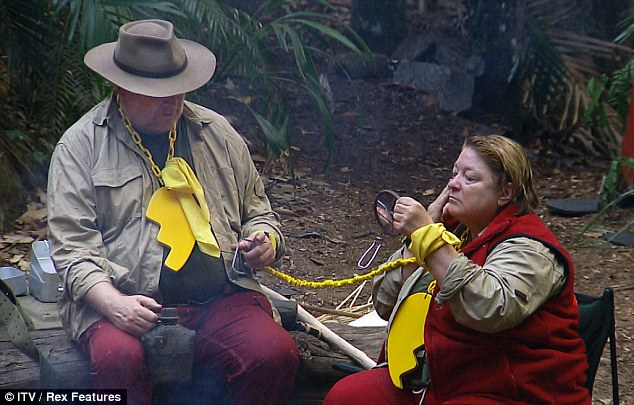 Mellow yellow: Colin Baker and Rosemary Shrager prepare for the day ahead