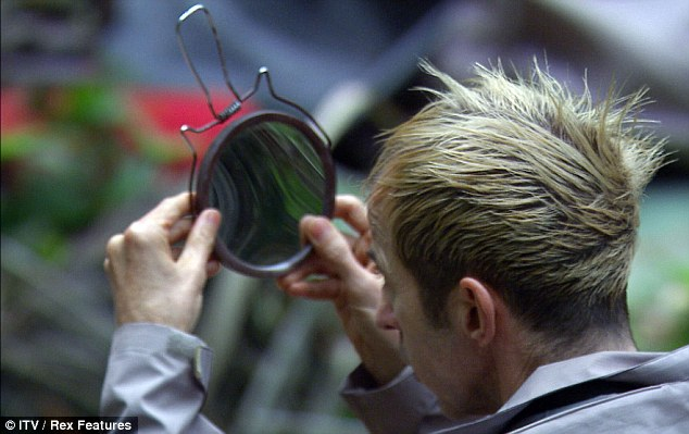 You missed a bit: Kajagoogoo singer Limahl took a while admiring his crowning glory