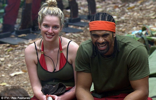 Still laughing: David laughed and laughed and laughed - and Helen Flanagan had a bit of a giggle, too