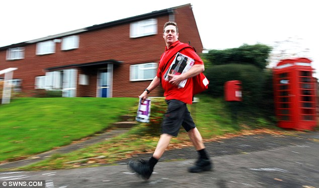 Former Olympic athlete Chris Maddocks has been called the fastest postman in the UK