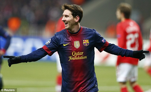 Majestic: Lionel Messi scored another two goals against Spartak Moscow