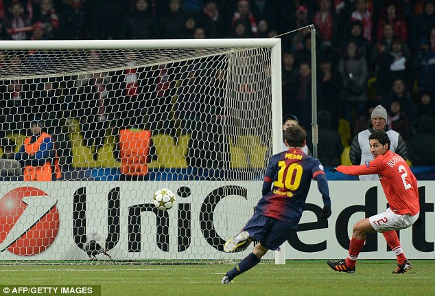 No chance: Messi is closing in on Gerd Muller's record of 85 goals in a calendar year