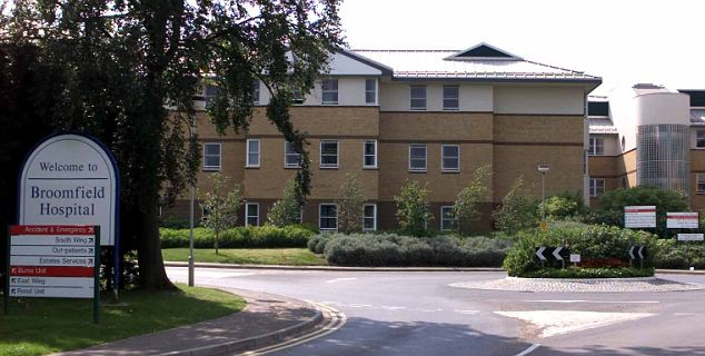 Mrs Smith had a skin graft at Broomfield Hospital in Chelmsford