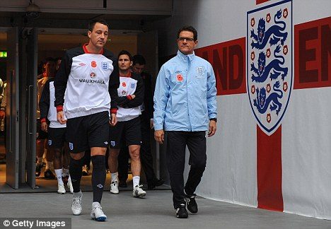 Old acquaintances: Capello with Terry (left) last year