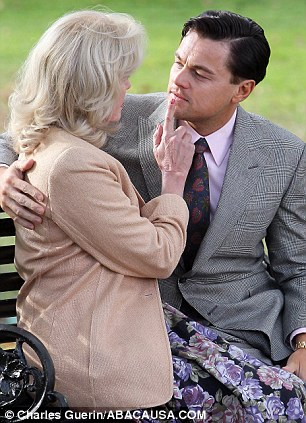 Actors Leonardo DiCaprio and Joanna Lumley
