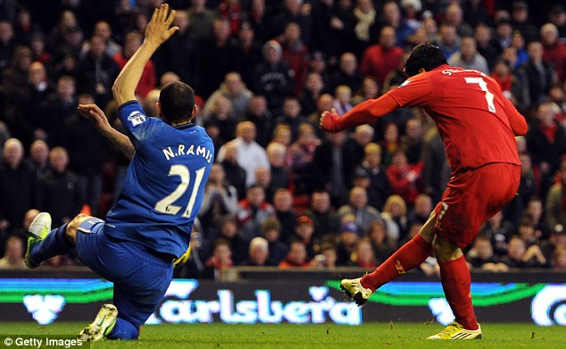 On target: Suarez has scored more goals than any other player in the Barclays Premier League this term