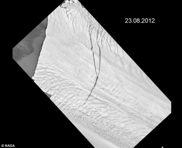 The large crack in Pine Island Glacier has been getting longer since scientists first observed it in 2011