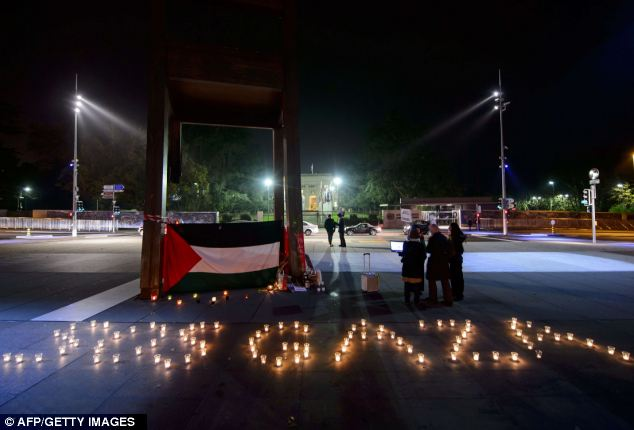 Pro-Palestinian demonstrators