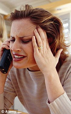 A stressed woman on the phone
