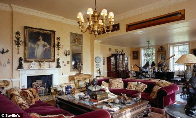 Luxurious: The handsome house has eight bedrooms and five bathrooms
