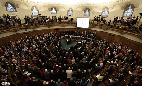 Decision time: The General Synod of the Church of England today decided not to approve a law to allow women bishops