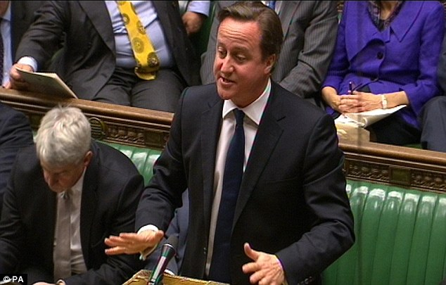 Changes: David Cameron told MPs yesterday that the Office of Fair Trading would have new powers to suspend the credit licences of rogue payday loan firms to protect customers