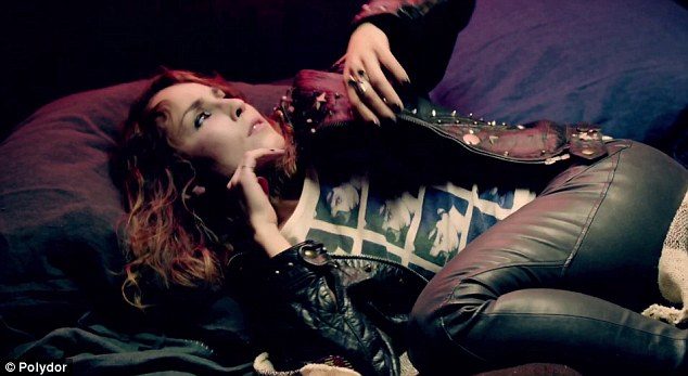 Rock chick: It's the first new single from the rock band in six years and Noomi did well to get the lead role