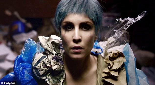 Punk: Noomi goes through a spectrum of hair colours and cuts as she depicts multiple personalities