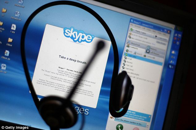 Secure... until now: A patent filed by a California-based businessman describes technology that would make it easy for authorities to tap into peer-to-peer VoIP services like Skype