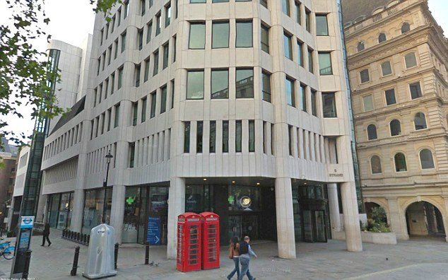 Office: Ms Herron worked as a £40,000-a-year service charge administrator at Land Securities' headquarters based on The Strand in London (pictured)