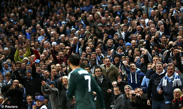 Missing us? Ronaldo took a fair bit of stick from the CIty fans