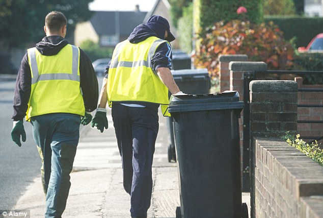 Falling numbers: At least half the homes in Britain - 10million households covered by 180 local authorities - have lost their weekly collections and now have general rubbish taken away only once every two weeks