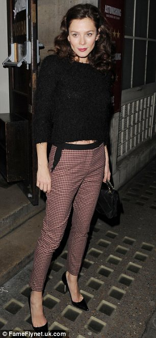 Stepping out in style: Anna Friel cut a stylish figure as she left the Vaudeville Theatre in London on Wednesday night