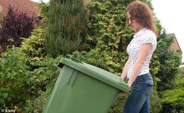 Getting it right: Those who overfill bins or accidentally leave rubbish out on the wrong day have risked penalties of up to £1,000