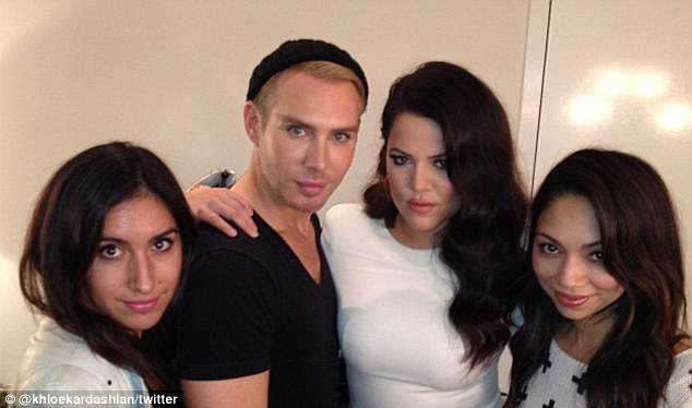 Glam Squad: Khloe posted a snap of herself posing with her glam squad, who perfect her on air looks each week