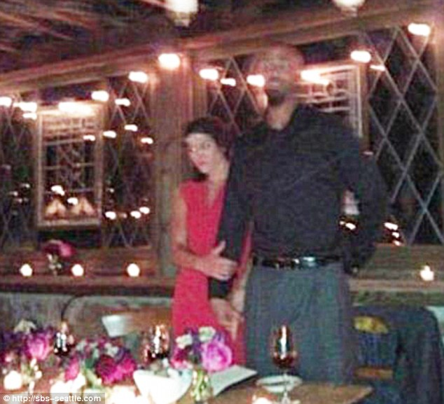 Newlyeds: Hope Solo and Jerramy Stevens at their wedding reception on November 13 - just hours after Jerramy's arrest