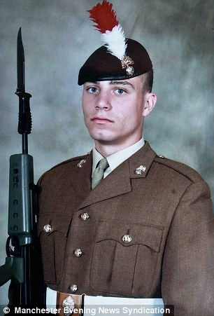 Tragic: Fellow soldiers say the death of David Collins will be felt by the entire armed forces community