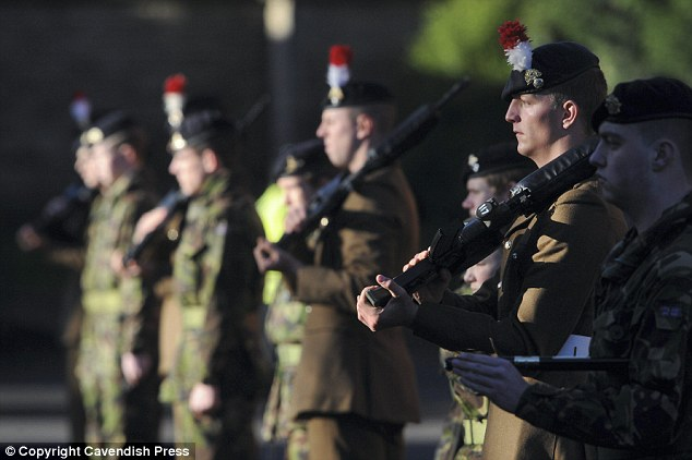David was given full military honours at a funeral attended by 2nd Batallion Royal Regiment of Fusiliers